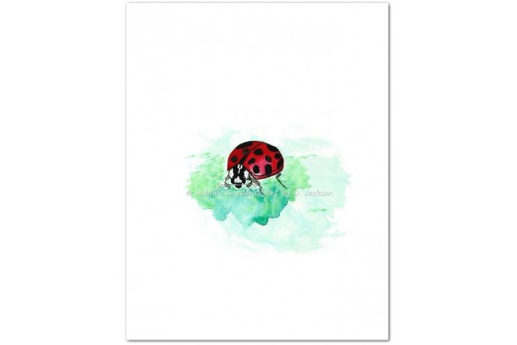 Ladybug Watercolor Art Print