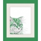 Green Cat Watercolor Art Print, Pop Art, Modern Wall Art, Contemporary Pet Art