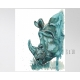 Aqua Rhino Watercolor Art Print, Unframed