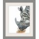 Rhino watercolor art print, safari animal, wildlife, kids nursery art