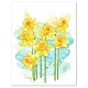 Spring Daffodils Modern Watercolor Art Print