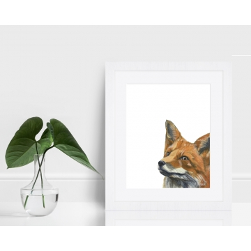 Red Fox Watercolor Art Print